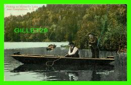 CAMPBELTON, NEW BRUNSWICK - FISHING ON RICHARD'S LAKE - ANIMATED -  TRAVEL IN 1913 - THE VALENTINE & SONS -