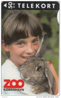 DENMARK - Zoo Copenhagen/Girl With Rabbit, Tirage 3500, 04/95, Used - Danimarca