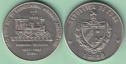 1989-MN-120 CUBA 1989 UNC 150 ANIV FERROCARRIL HABANA - BEJUCAL. RAILROAD. CU-NI - Kuba