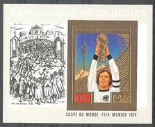 DAHOMEY  World Cup-74,Durrer Gold Foil S/Sheet Imper. Cat-40.00 Eur. MNH