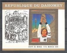 DAHOMEY  World Cup-74,Durrer Gold Foil S/Sheet Cat-40.00 Eur. MNH