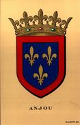 Blason ANJOU  - R. Louis Del. - Girard Barrere Et Thomas - France