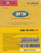 NIGERIA - MTN Prepaid Card N 1500, Used