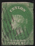 Ceylon       .       SG     .     3a       .         O       .          Gebruikt   .    /    .   Cancelled - Ceylon (...-1947)