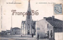 (85) Sainte Cécile - Place De L' Eglise - 2 SCANS - Other Municipalities