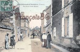 (86) St Saint Genest D' Ambière - Rue De La Croix Boutet - CPA Colorisée - 2 SCANS - France