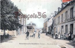 (86) St Saint Genest D' Ambière - Rue De La Poste - CPA Colorisée - 2 SCANS - France