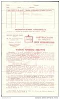 Document Médical Ancien. Notice Du Vaccin Contre La Poliomyélite, Institut Pasteur, Milieu Années 1960. - Vieux Papiers