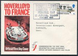 1969 GB Ramsgate Hoverlloyd Official First Day Cover Mountbatten Class Hovercraft - Calais - 1952-.... (Elizabeth II)