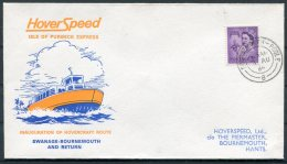 1968 GB Swanage / Bournemouth - Poole HooverSpeed, Isle Of Purbeck Express Hovercraft Cover. - 1952-.... (Elizabeth II)