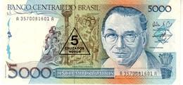 Brazil P.217a 5000/5 Cruzados 1989 Unc - Brazil