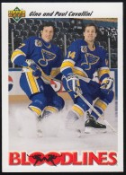 Blood Lines NHL - Gino & Paul  Cavallini 646, Upper Deck (BL81) - Trading Cards