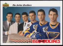 Blood Lines NHL - The Sutter Brothers 645, Upper Deck (BL84) - Trading Cards