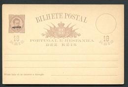 AZORES Postal Card #20a 10 Reis Mint Vf 1884 - Azores