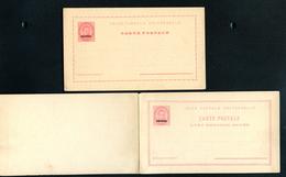 AZORES Postal Cards #22+23 20+20 Reis Mint Vf 1887 - Açores