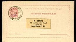AZORES Postal Card #22 20 Reis Ponta Delgada 1894 - Azores