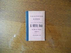 NOYON A. ROYER VINS & SPIRITUEUX BIERES 96 RUE DE CHAUNY PETIT CARNET - Publicités