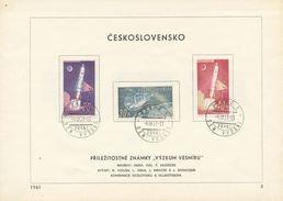 Czechoslovakia / First Day Sheet (1961/03) Praha 1 (b): Space Research