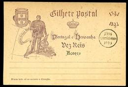 AZORES Postal Card #24 Prince Henry The Navigator Mint Vf 1894 - Açores