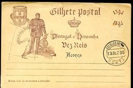 AZORES Postal Card #24 Prince Henry The Navigator Horta 1895 - Azores
