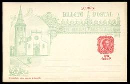 AZORES Postal Card #26 VASCO DA GAMA Church Of Sao Joao Baptista Tomar Mint 1898 - Azores
