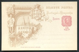AZORES Postal Card #26 VASCO DA GAMA National Palace Of Sintra Mint Vf 1898 - Açores