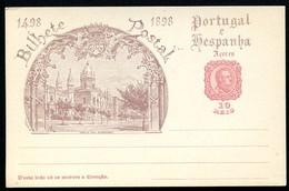 AZORES Postal Card #26 VASCO DA GAMA Mosteiro Dos Jeronimos Lisbon Mint Vf 1898 - Açores