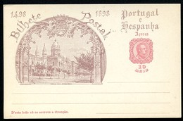 AZORES Postal Card #26 VASCO DA GAMA Mosteiro Dos Jeronimos Lisbon Mint Vf 1898 - Azores