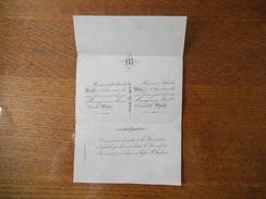 MADEMOISELLE ELISABETH STORCK A L'HONNEUR DE VOUS FAIRE PART DE SON MARIAGE AVEC MONSIEUR CHARLES MAIRE LE 15/01/1870 - Mariage