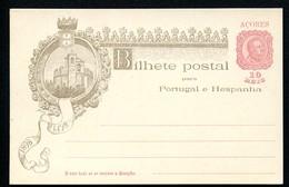AZORES Postal Card #26 VASCO DA GAMA Castle Mint Vf 1898 - Açores