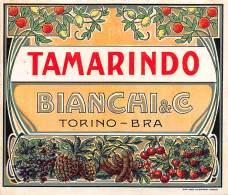 "06693 ""TAMARINDO - BIANCHI & C . - TORINO - BRA""  ETICH. ORIG. - Etichette"