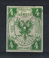 LUBECCA02) 1859 -Aquila 4Sc. Verde Scuro Unif.5 USED