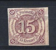 STATI DEL SUD05) 1859- Grossa Cifra 15Kr. Lilla -Unif.40 MLH - Thurn Und Taxis
