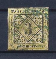Wuerttemberg06) 1851-Stemma - 3Kr.giallo Unif. 2 USED - Wuerttemberg