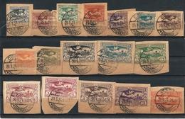 ALTA SLESIA)1920 -Veduta- Serie 17val Unif. 41-57 USED - Besetzungen 1914-18