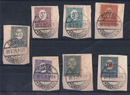 ALTA SLESIA)1920 -Cifra- Serietta 7val Unif. 29-34 -39 USED - Besetzungen 1914-18
