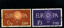IRELAND/EIRE - 1960  EUROPA  SET  FINE USED - Usati