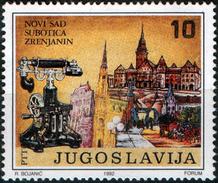 Yugoslavia 1992 Centenary Of Public Telephone Traffic In Novi Sad, MNH - Telecom