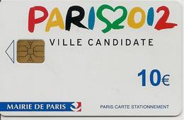CARTE¤-STATIONNEMENT-PARIS-10€-PUCE-SA1-PARIS 2012- JEUX OLYMPIQUES-TBE - PIAF Parking Cards