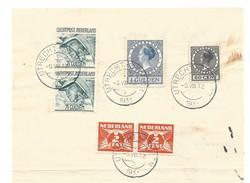 Nederland 1933 Formulier Ter Frankeering Bij Abonnement Van Baarn ,  Pracht Frankering O.a Luchtpost ! - Periode 1891-1948 (Wilhelmina)