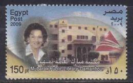 150p Used Egypt 2009,  Mubarak Public Library, Damanhour, Pyramid, Woman - Egypt