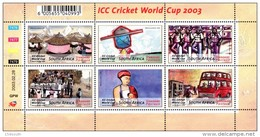 South Africa - 2003 ICC Cricket World Cup Sheet (**) # SG 1418 , Mi 1482-1487 - South Africa (1961-...)