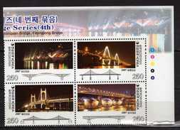 South Korea 2007 Korean Bridges.Strip Of 4.MNH - Korea, South