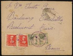 España 1939. Carta De Zaragoza A Realmont Tarn. Censura. - Marcas De Censura Nacional