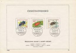 Czechoslovakia / First Day Sheet (1962/18) Praha 1 (c): Beetles - Kunst