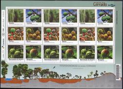 "Brasil 2016 ** Minipliego 3 Series ""Frutas Del Cerrado"". See Desc. - Brazil"
