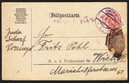 Poland Feldpostkarte To Wien - ....-1919 Provisional Government