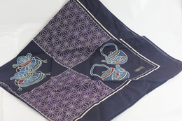 """Furoshiki 120 X 120 Cm. """" Wa No Uta """" - Vintage Clothes & Linen"""