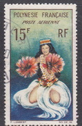 French Polynesia SG 35 1964 Tahitian Dancers, 15F Dancer In Full Costume, Used - French Polynesia