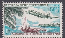 New Caledonia SG 475 1969 20th Anniversary Regular Flight Noumea Paris Used - New Caledonia